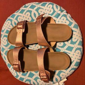 Torrid rose gold sandals